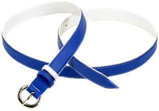 Яркий женский ремень искусственная кожа 1006 blue