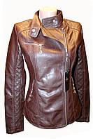 Весенняя молодежная  куртка, кож.зам. Темно-коричневая