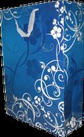 Бумажный пакет с флористической графикой