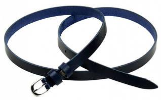 Эффектный кожаный женский ремень 1007 dark-blue