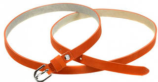Интригующий кожаный женский ремень 1007 orange