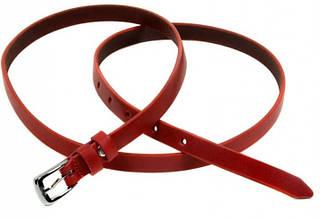Чудесный кожаный женский ремень 1007 red