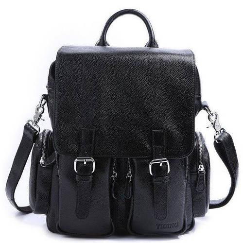 Классический мужской рюкзак из натуральной кожи на 4 лTIDING BAG t3101