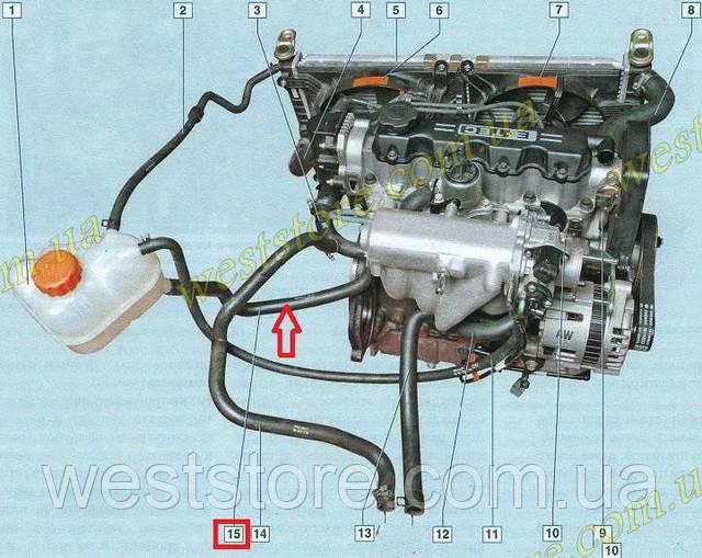 Система охлаждения двигателя дэу нексия 8 кл схема