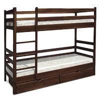 Кровать двухъярусная Засоня Юта (массив ольхи)