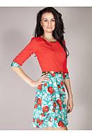 Коралловое платье размер 44