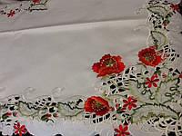 Скатерть180*130 атласная скомпьютерной  вышивкой