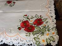 Скатерть атласная с вышивкой