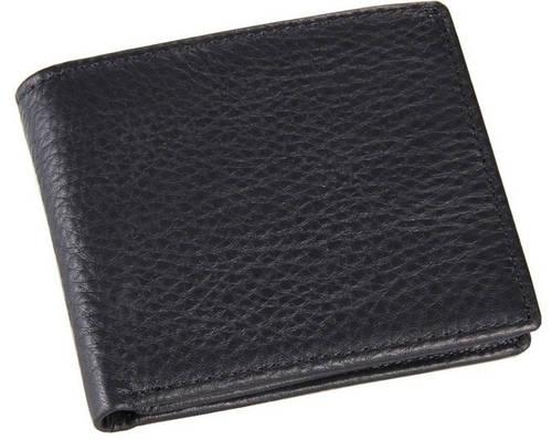 Кожаное мужское портмоне  ручной работы TIDING BAG  8063A черный