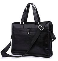 Кожаная сумка ручной работы Jasper & Maine  7181A черный