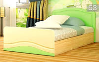 Детская кровать КТ-539 Эколь ЛАК БМФ 80х200