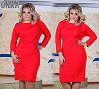 Женское платье батального размера с молнией сзади в расцветках ДГбат62
