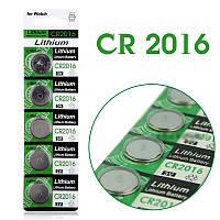 Батарейка CR2016 дисковая, литиевая 3V