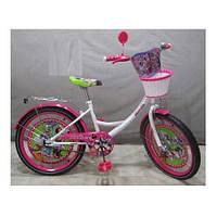 Велосипед детский мульт 20 дюймов Minnie Mouse MI206B, бело-малиновый