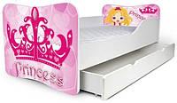 Кровать с ящиком для белья 180х80 принцесса Nobiko