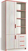Шкаф книжный комбинированный 2Д3Ш Рио Феникс