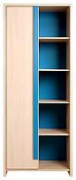 Шкаф детский комбинированный REG 1D/80 Капс / Caps BRW Украина голубой-дуб беллуно