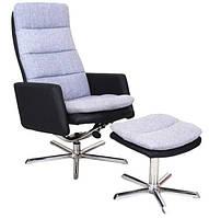Кресло для руководителя Gino Signal (пуф в комплекте)
