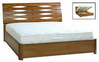 Кровать двухспальная с подъемным механизмом Мария из массива бука Микс Мебель 160х200