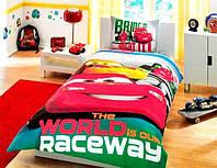 Постельное белье детское Ранфорс DISNEY CARS RACING Tac