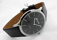 Часы мужские Guardo Classic,  Made in Italy, цвет серебро, черный ремешок и циферблат