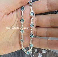Женский серебряный браслет с камнями