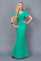Женское бирюзовое вечернее длинное платье в пол,44,46,48