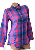 Рубашка женская в клетку