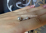 Серебряная серьга в пупок