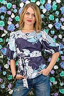 Блуза женская с принтом цветы