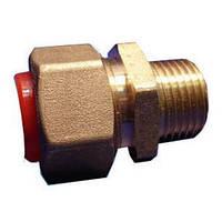 Фитинг муфта наружная резьба (папа) для газа 15 мм соединительная газовая