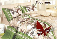 Постельное белье полуторное, ранфорс, Тростник