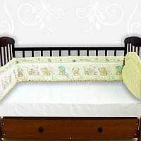 Мягкий бортик-защита в кроватку по периметру, высота 30 см, ткань ранфорс, наполнитель хлопкоттон