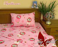 Комплект постельного белья детский в кроватку, ткань бязь,  Пуговки розов.