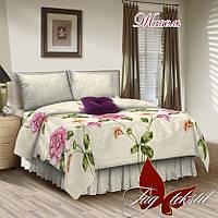 Двухспальный комплект постельного белья, поплин,  Жизель