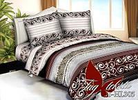 Комплект постельного белья, недорогой, полисатин двуспальный  3D PS-HL305