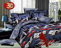 Комплект постельного белья, семейный,  полисатин, 3D, PS-BL7860, пододеяльник (2 шт) 145x215