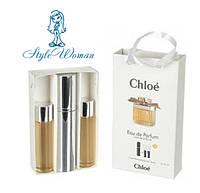 Подарочный набор мини парфюмерии Chloe Eau De Parfum Хлое О Де Парфюм с ферамонами 3*15мл