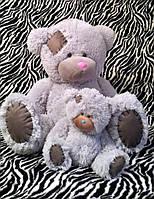 """Мишка большой с латками """"Тедди"""" 160 см, мишки под заказ, мягкие игрушки, игрушки мягкие большие"""