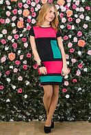 Платье трикотажное Квадраты с коротким рукавом