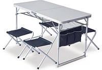 Набор мебели SET TABLE + 4 STOOLS PINGUIN PETROL