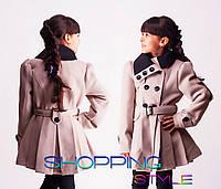 Модное весеннее пальто для девочки 3 цвета