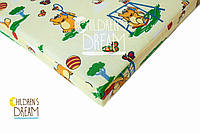 Матрас в детскую кроватку КПГ (кокос-поролон-гречка) желтый
