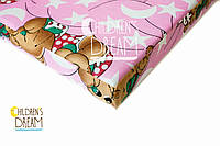 Матрас в детскую кроватку Юниор (5-ти сл. кокос) розовый