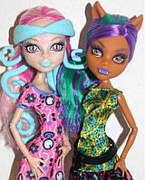 Набор кукол Monster High Клодин и Вайперин (Clawdeen & Viperine) Пугающий Макияж Монстер Хай Школа монстров