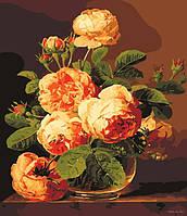 Набор для раскраски картин по номерам Menglei MG341 Букет из роз 40 х 50 см