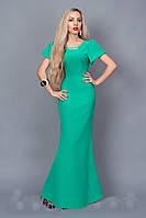 Элегантное женское  платье в пол 238-6 бирюзовый