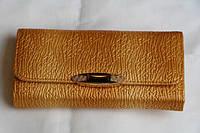 Стильный женский кошелек с брошкой