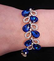Браслет ветка с синими камнями