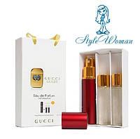 Подарочный набор мини парфюмерии Gucci Guilty Pour Homme Гуччи Гилти Пур Хомм с ферамонами женский 3*15мл